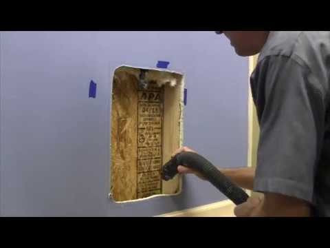 2   Create Hole in Wall - Freedom Pet Pass Wall-Mounted Pet Door Installation