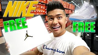 How to get ANY Nike Outlet SNEAKER for Free!