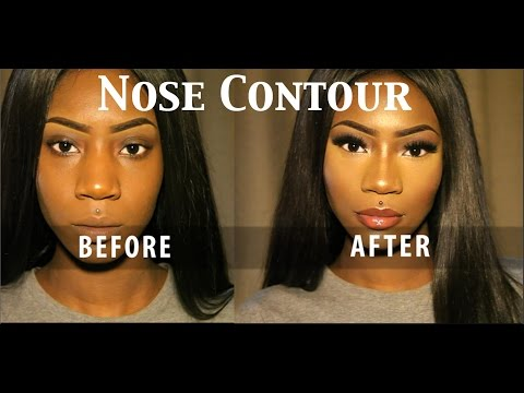 How I contour My nose (illusion of a slimmer nose) | Vanessa Blac
