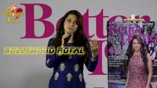 Juhi Chawla Unveils The Cover Page Of 10th Anniversary Issue Of  Better Homes  And Gardens Part  2