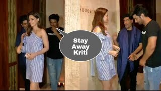 OMG ! Sushant Singh Rajput finally breaks with Kriti Sanon and ignores her im front of media