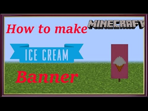 Minecraft | How to make Ice Cream Banner | MangoMan