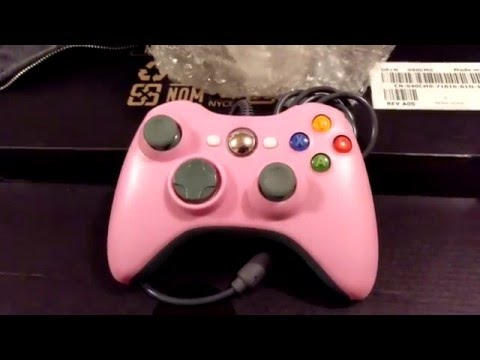 Wired X Box 360 Controller Unboxing eBay (Pink)