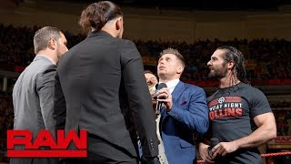 The Miz and The Miztourage set a trap for Seth Rollins and Finn Bálor: Raw, March 26, 2018