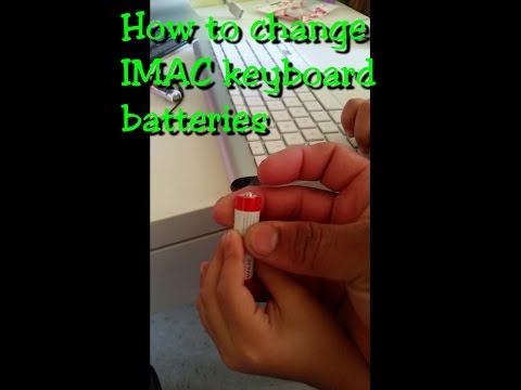 IMAC Keyboard battery change