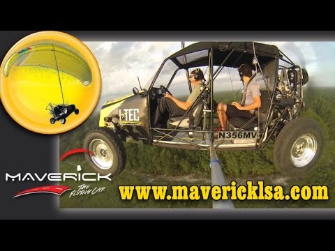 i-TEC Maverick LSA flying car, dune buggy, and powered parachute.