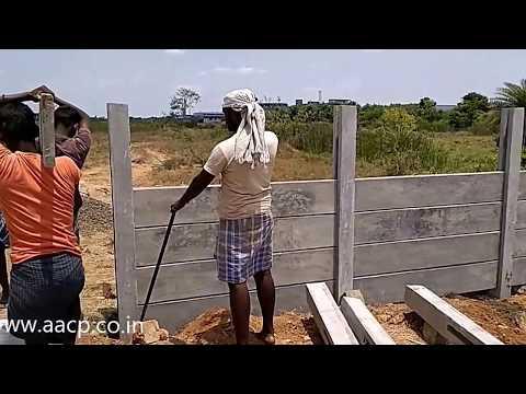 Installation of precast concrete fence post diy