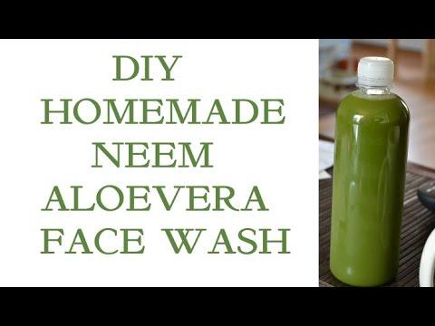 DIY Homemade Neem Aloe vera FACE WASH | How to make face wash