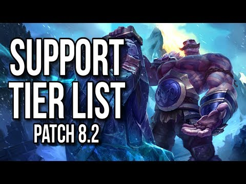 Support Tier List Patch 8.2 - League of Legends