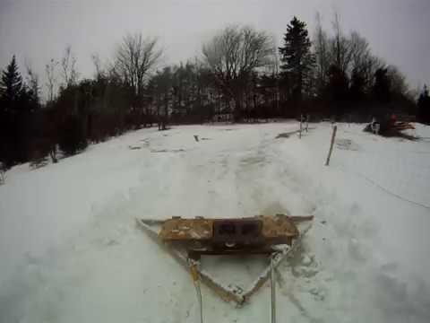 DIY Simple Homemade ATV Snow Plow Drag CHEAP Under 15$
