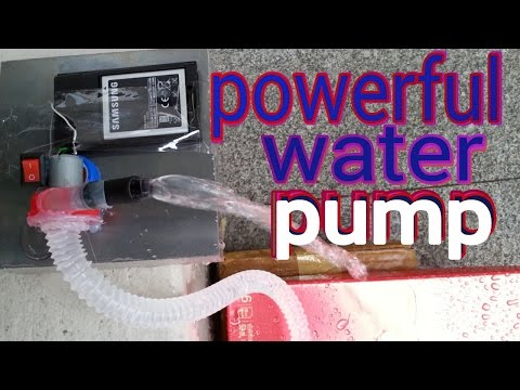 How to make powerful water pump