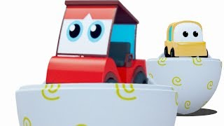 learn colors with surprise eggs and cartoon car vehicles in this 3D video by Kids Channel