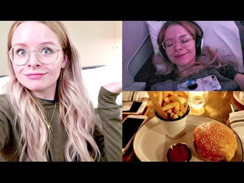 GOING TO CALIFORNIA!! WE HAD A BED ON THE PLANE?! | sophdoesvlogs