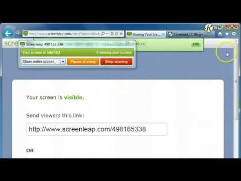 How to use Screenleap on Google Chrome