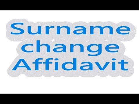 AFFIDAVIT OF NAME CHANGE AFTER MARRIAGE