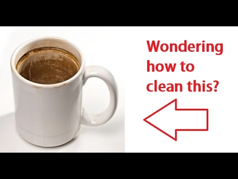 Learn how to clean coffee stains off your mug in 11 seconds