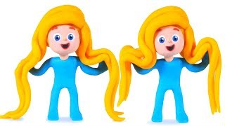 PRINCESS LONG HAIR NEW STYLE ❤ PLAY DOH CARTOONS FOR KIDS