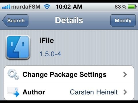 How to get IFile IOS7 Cydia HD