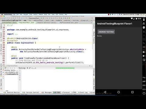 Android Testing Blueprint walk-through