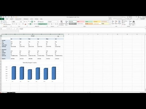 How to make a budget with a graph in Microsoft Excel // Budget // SS-2_Budget