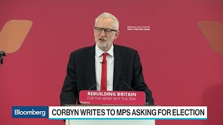 U.K. Labour Leader Corbyn Plans Caretaker Government to Block No-Deal Brexit