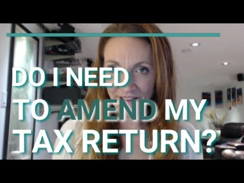 Do I need to file an amended tax return? (Form 1099, NOL, Correction)