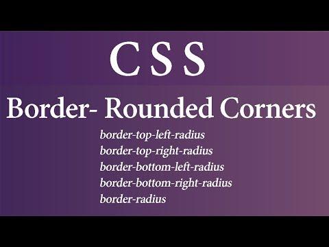 border radius in CSS (Hindi)