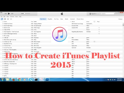How to Create Music Playlist in iTunes