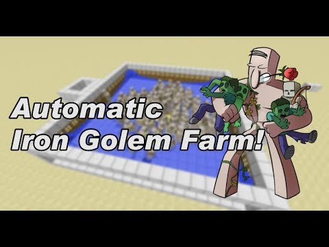 Minecraft - AUTOMATIC IRON GOLEM FARM - Tutorial - PS / Xbox / PE / Wii U
