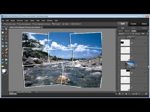 Photoshop Elements 10: Create a Photo Collage Effect