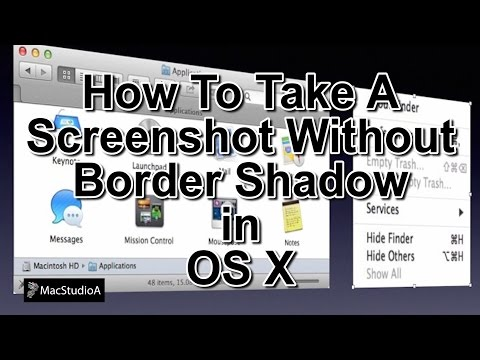 How To Take a Screenshot Without Border Shadow in Mac OS X