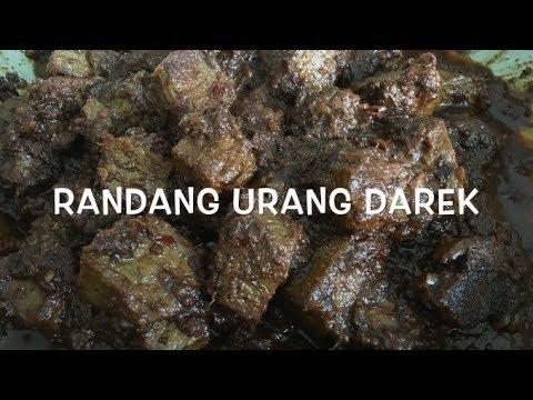 My Mom's Rendang Recipe - Cara Memasak Rendang Hitam - Randang Darek - Indonesian Beef Rendang
