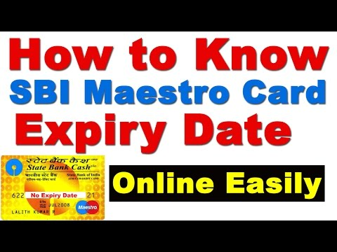 How to Know SBI Maestro ATM Card Expiry Date ( Find Maestro Card SBI Expiry Date)