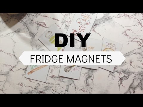 How to Make Personalized Fridge Magnets | DIY