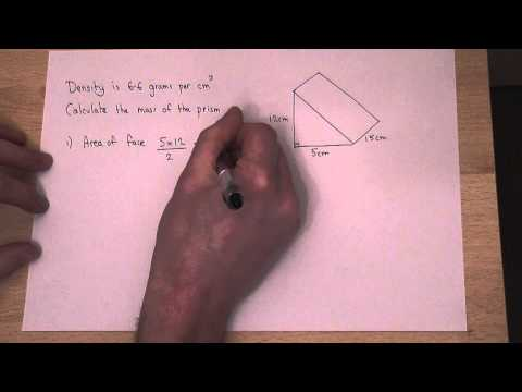 GCSE Maths: Calculate the mass of a 3d shape using its density and volume