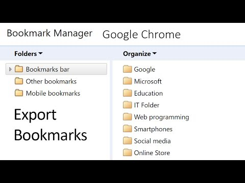 How to export bookmarks from Google Chrome
