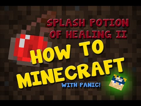 How To Minecraft||How to make Splash Potion of Healing II||