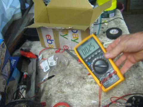 Ohms test good and bad fuel pump - Holden rodeo