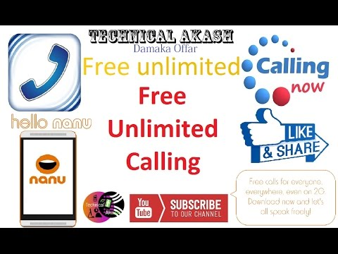 [ Hindi - हिन्दी ] FREE UNLIMITED CALLS - With Any Android Mobile Phone (No Root) From Nanu 2016