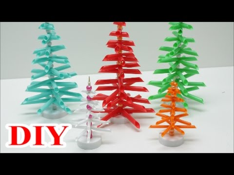 Christmas Tree Recycled Ideas.Best Out Of Waste Crafts Ideas Diy Drinking Straws