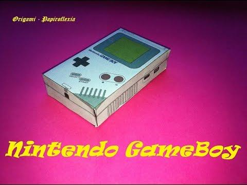 Paper Toys. Origami - Papiroflexia. Nintendo GameBoy