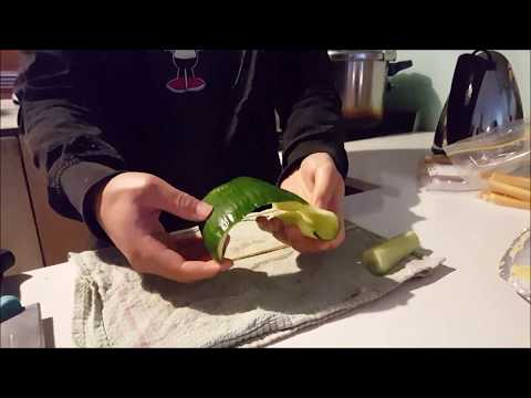 How to Cut/Peel a Cucumber for Sushi Rolls the EASY WAY!