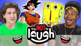 YouTubers React To Try To Watch This Without Laughing or Grinning #32