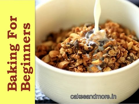 Peanut Butter Granola - Baking In A Convection Microwave
