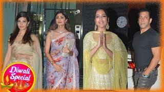 Arpita Khan Grand Diwali party - Salman & family, Jacqueline, Iulia, Sonakshi and Others attend