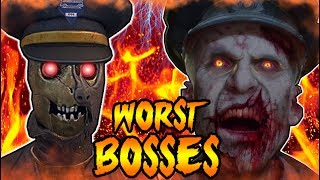 Top 5 WORST Zombie Bosses! Call of Duty Black Ops 3 Zombies, Black Ops 2, World at War Gameplay