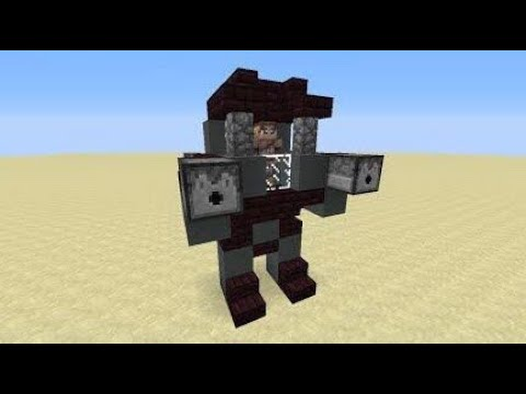 How to build a moving robot in minecraft (2017)