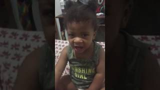 Ziah Singing To Whitney Houston I Will Always Love You