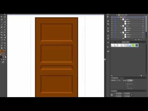 Door - Adobe Illustrator cs6 tutorial. Easy way how to draw basic shape using pathfinder tool.