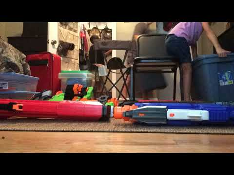 Building a nerf wall(This was so fun)